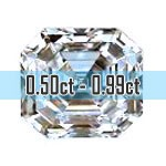 Asscher Cut Diamonds - 0.50ct - 0.99ct