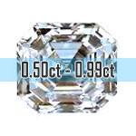 Asscher Cut Diamonds - 0.50ct - 0.99ct