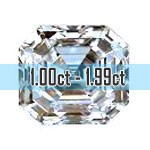 Asscher Cut Diamonds - 1.00ct - 1.99ct