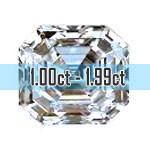 Asscher Cut Diamonds - 1.00ct - 1.99ct