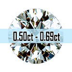Round Brilliant Cut Diamonds - 0.50ct - 0.69ct
