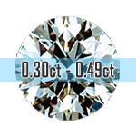 Round Brilliant Cut Diamonds - 0.30ct - 0.49ct