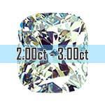 Cushion Cut Diamonds - 2.00ct - 3.00ct+