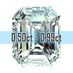 Emerald Cut Diamonds - 0.50ct - 0.99ct