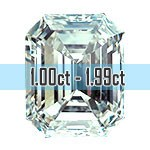 Emerald Cut Diamonds - 1.00ct - 1.99ct