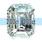 Emerald Cut Diamonds - 2.00ct - 3.00ct+