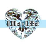 Heart Shape Diamonds - 0.00ct - 0.99ct