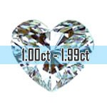 Heart Shape Diamonds - 1.00ct - 1.99ct