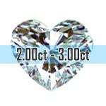 Heart Shape Diamonds - 2.00ct - 3.00ct+