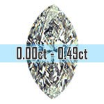 Marquise Cut Diamonds - 0.00ct - 0.49ct