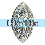 Marquise Cut Diamonds - 0.50ct - 0.99ct