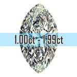 Marquise Cut Diamonds - 1.00ct - 1.99ct