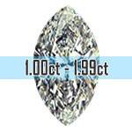 Marquise Cut Diamonds - 1.00ct - 1.99ct
