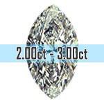 Marquise Cut Diamonds - 2.00ct - 3.00ct+