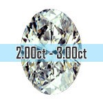 Oval Shape Diamonds - 2.00ct - 3.00ct+