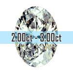Oval Shape Diamonds - 2.00ct - 3.00ct+
