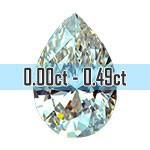 Pear Shape Diamonds - 0.00ct - 0.49ct