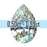 Pear Shape Diamonds - 0.50ct - 0.99ct