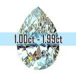 Pear Shape Diamonds - 1.00ct - 1.99ct