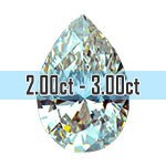 Pear Shape Diamonds - 2.00ct - 3.00ct+