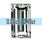 Baguette Cut Diamonds - 0.00ct - 0.49ct
