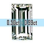 Baguette Cut Diamonds - 0.50ct - 0.99ct