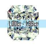 Radiant Cut Diamonds - 1.00ct - 1.99ct
