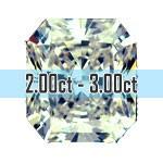 Radiant Cut Diamonds - 2.00ct - 3.00ct+