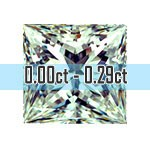 Princess Cut Diamonds - 0.00ct - 0.29ct