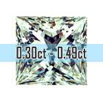 Princess Cut Diamonds - 0.30ct - 0.49ct