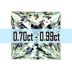Princess Cut Diamonds - 0.70ct - 0.99ct