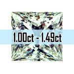 Princess Cut Diamonds - 1.00ct - 1.49ct