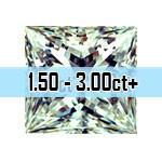 Princess Cut Diamonds - 1.50ct - 3.00c+