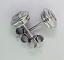 Rub Over Diamond Ear Studs 0.26ctw H VS2