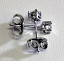 4 Claw Diamond Ear Studs