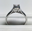 Emerald Cut Diamond Trellis Ring
