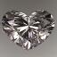 Heart Shape Diamond 0.90ct G VVS2