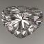 Heart Shape Diamond 0.44ct F VS1