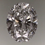 Oval Shape Diamond 0.74ct F VS2