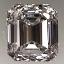 Emerald Cut Diamond 0.83ct E IF