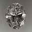 Oval Cut Diamond 1.01ct G VVS2