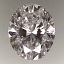 Oval Shape Diamond 0.77ct F SI1