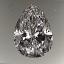 Pear Shape Diamond 1.33ct D VVS1