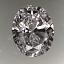 Oval Shape Diamond 1.24ct D IF