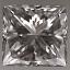 Princess Cut Diamond 0.53ct F VVS2