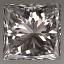 Princess Cut Diamond 0.53ct F VS2