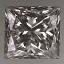 Princess Cut Diamond 0.52ct H SI1