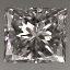 Princess Cut Diamond 0.34ct H VVS2