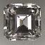 Emerald Cut Diamond 0.53ct G VVS2