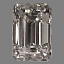 Emerald Cut Diamond 0.53ct G VS1